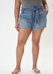 Kan Can High Rise Belted Shorts