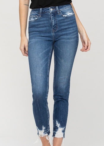 Vervet Haylie High Rise Distressed Pocket & Hem Jeans