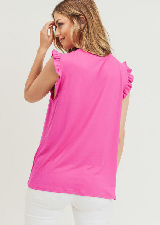 Buttery Soft Ruffle Detail Tanks - 2 Colors!