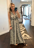 Wide Leg Snake Jumpsuit