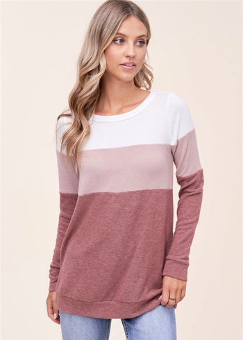 Shades Of Rose Colorblock Top