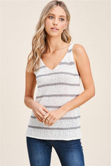 Striped Summer Knit Tank Tops - 2 Colors!