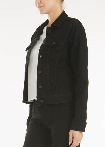 Kan Can Black Stretch Jean Jacket