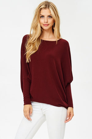 Must Have Dolman Top - Burgundy