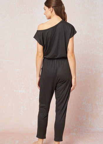 Buttery Off The Shoulder Black Jumpsuit