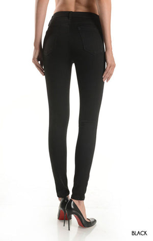 Black High Rise Super Skinny Jean