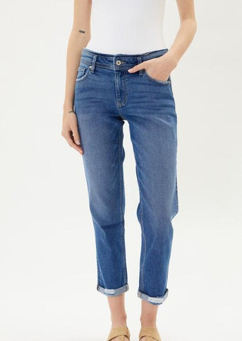 Kan Can Mid Rise Slim Boyfriend Jeans