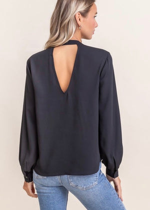 Life of the Party Chiffon Top - Black