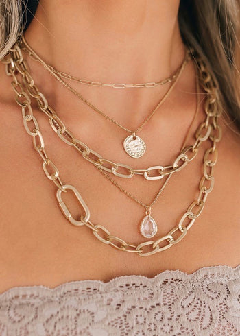 Gem & Coin Layered Necklace