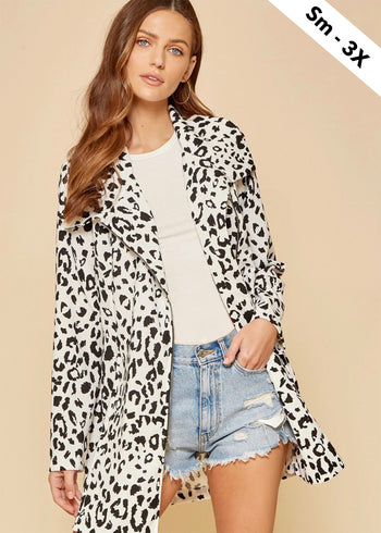Black & White Spring Leopard Jacket