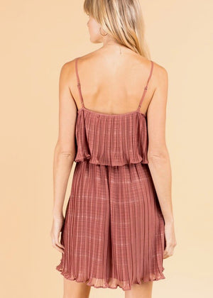 Mauve Pleated Dress