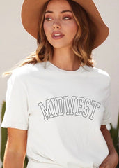 Midwest Letter Outline Tees - 2 Colors!
