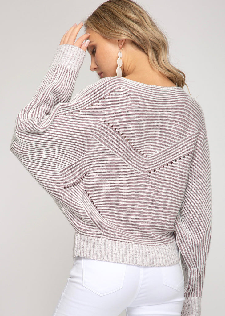 Misty Mauve Dolman Sweater