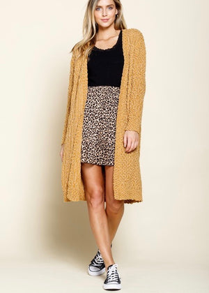 Golden Bronze Popcorn Cardigan