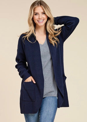 Cozy Nights Cardigan - Navy