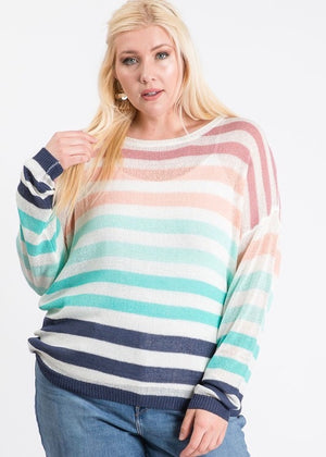 Navy Striped Pullover