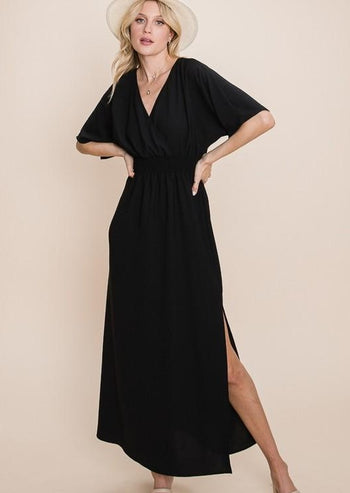 On Island Time Side Slit Maxi Dresses - 2 Colors!