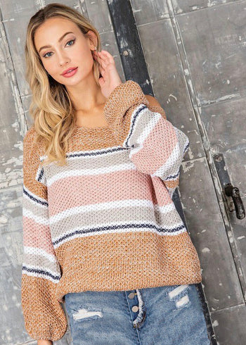 Sunny Days Striped Pullover
