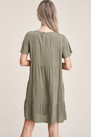 Tiered Sun Dress - Olive