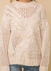 Open Stitched Chenille Sweater
