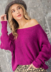 On or Off The Shoulder Ribbed Dolman Sweater - 3 Colors!