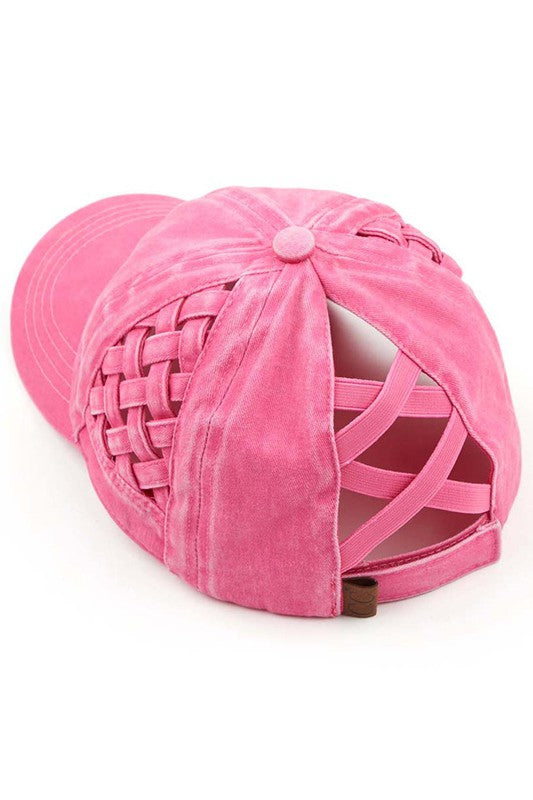 Woven Criss Cross CC Hat - Available in 5 Colors!