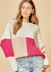 You're So Sweet Colorblock Pullover