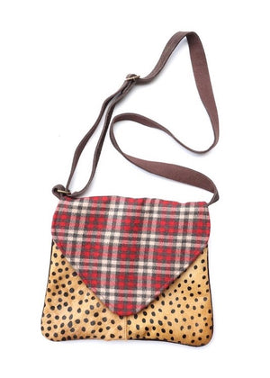 Plaid Animal Purse