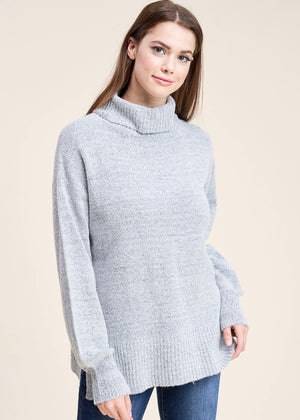 Turtle Neck Sweater - Gray