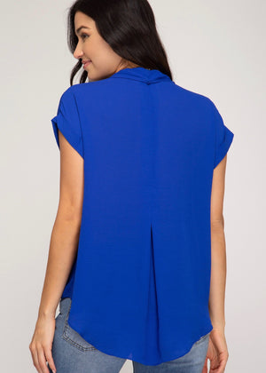 Royal Blue Twist Top