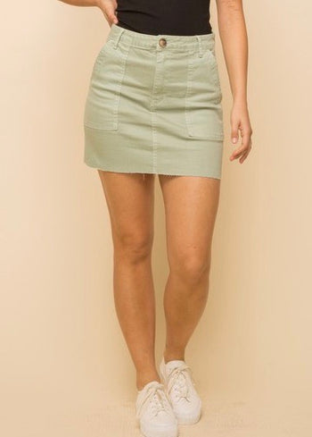 Spring Colors Denim Skirts - 2 Colors!