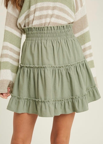 Smocked Tiered Ruffle Skirts - 2 Colors!