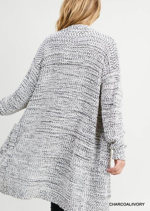 Salt & Pepper Popcorn Cardigan