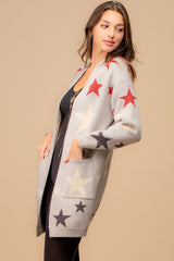 Silver Gray Star Cardigan