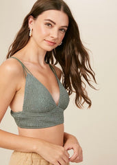 Smocked Padded Bralettes - 4 Colors!