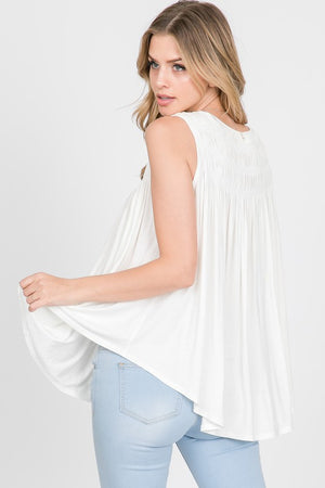 Smocked Tank - Off White
