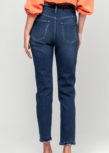 Vervet by Flying Monkey High Waisted Erika Stretch Mom Jeans