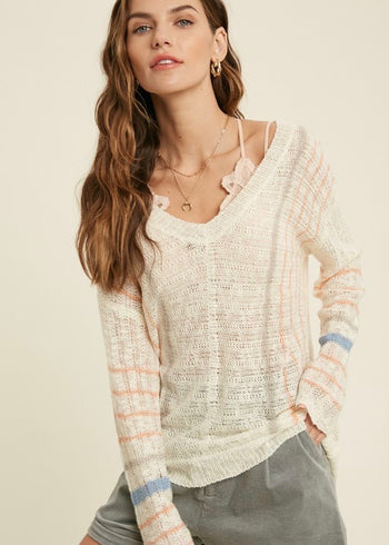 Bring On The Sunshine Knit Pullover
