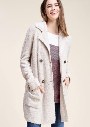 Sweater Jacket Cardigan - Oatmeal