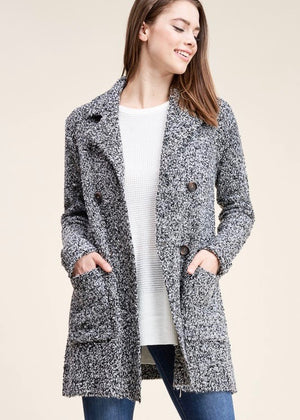 Sweater Jacket Cardigan - Pepper
