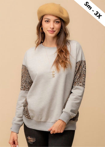 Gray & Animal Sweatshirt