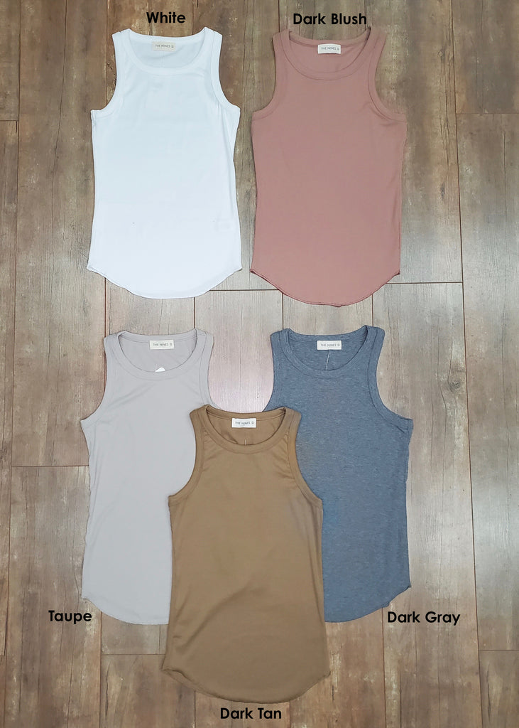 Must Have Basic Ribbed Tanks - 5 Colors!