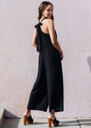 Black Tie Back Jumpsuit
