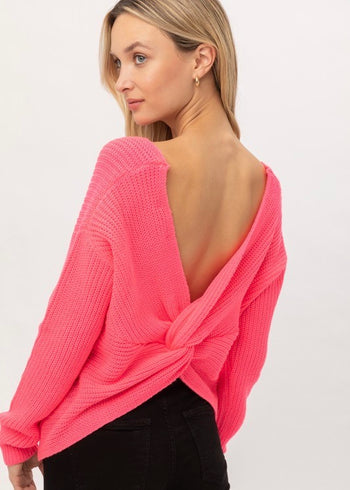 Make It A Girls Night Twist Back Sweaters - 3 Colors!