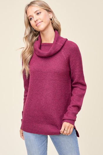 Feels Like Falling In Love Plum Sweater