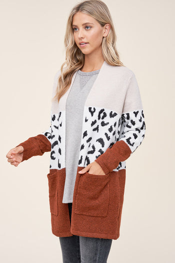 Animal Colorblock Cardigans