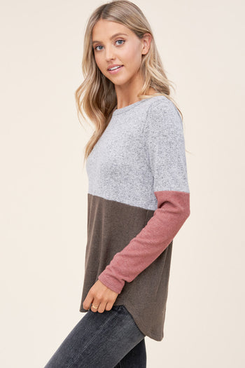Mauve & Olive Soft Long Sleeve