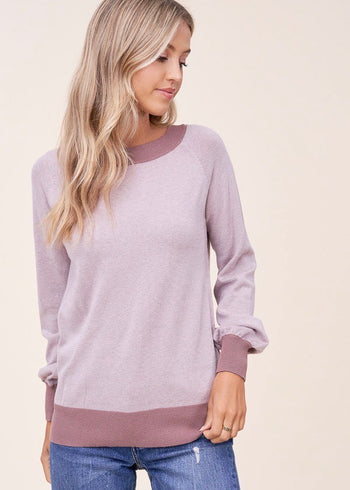 Two Toned Lavender Pullover