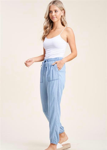 Denim Summer Joggers - 2 Colors!