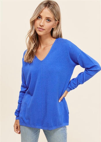 Bright V-Neck Pullovers - 3 Colors!